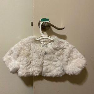 Baby faux fur coat